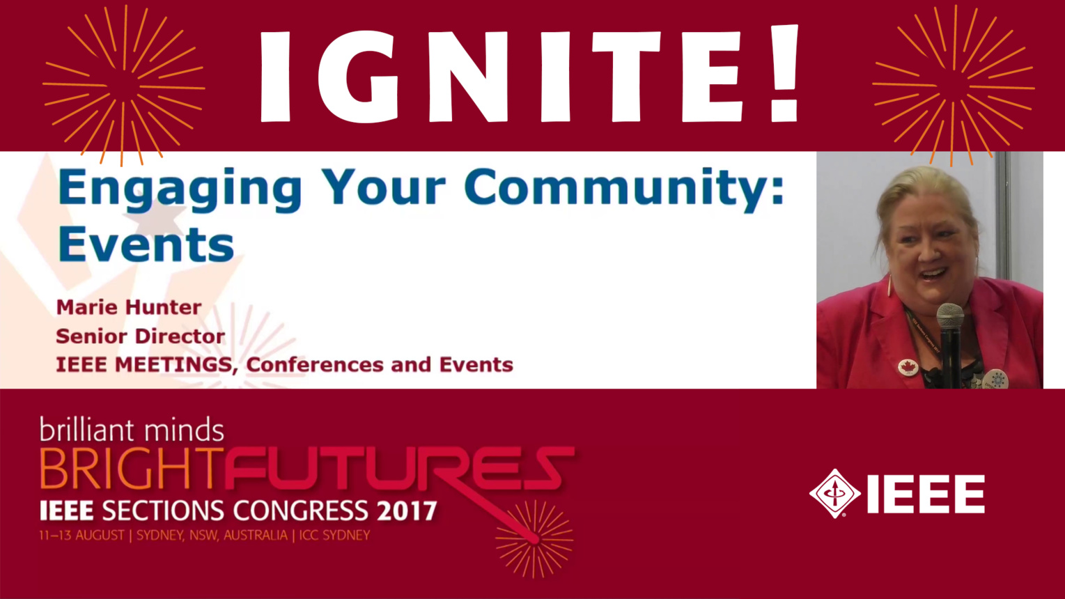 Engaging Your Community: Events - Marie Hunter - Ignite: Sections Congress 2017
