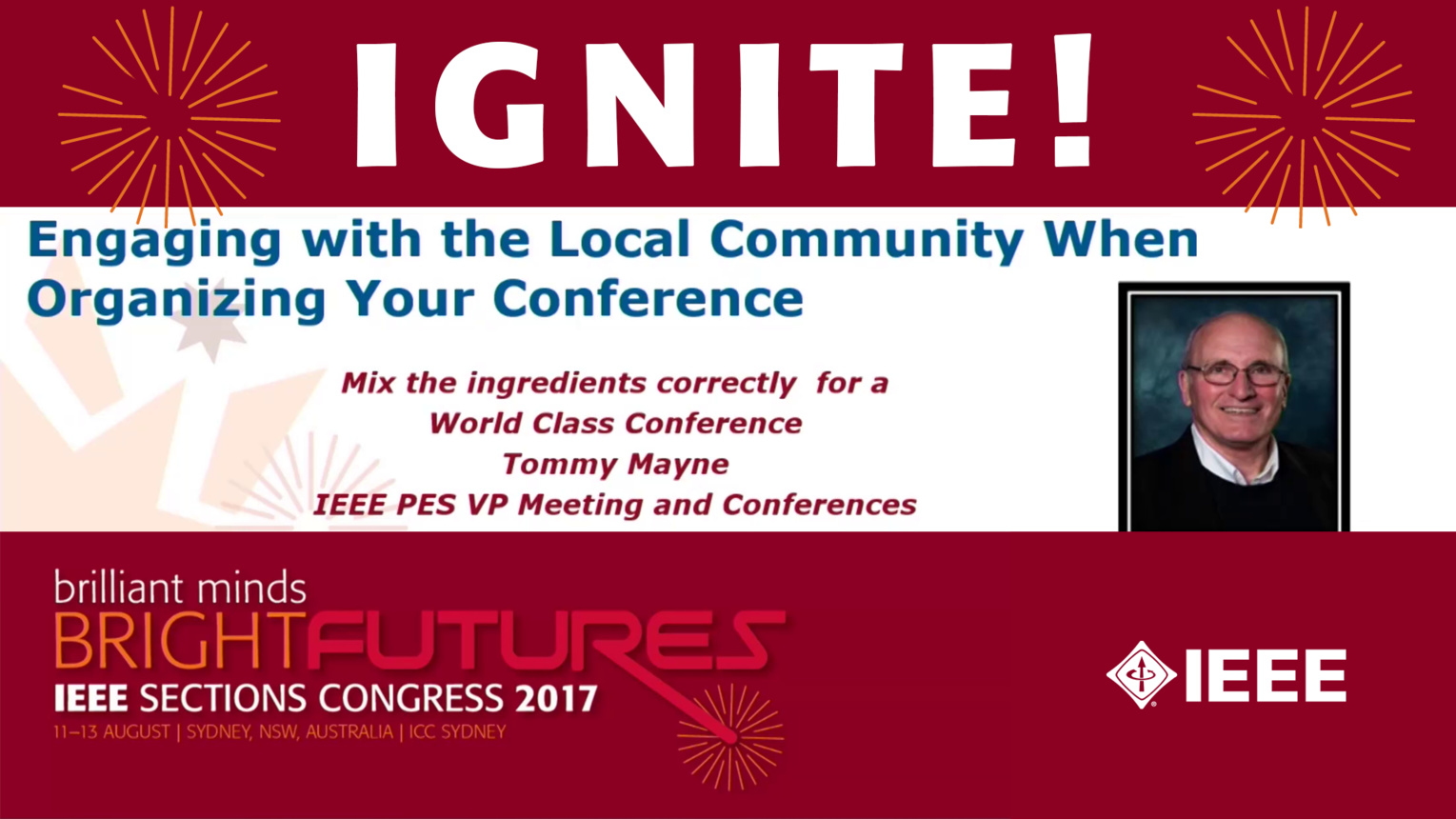Organizing Conferences: Engage with the Local Community - Tommy Mayne - Ignite: Sections Congress 2017