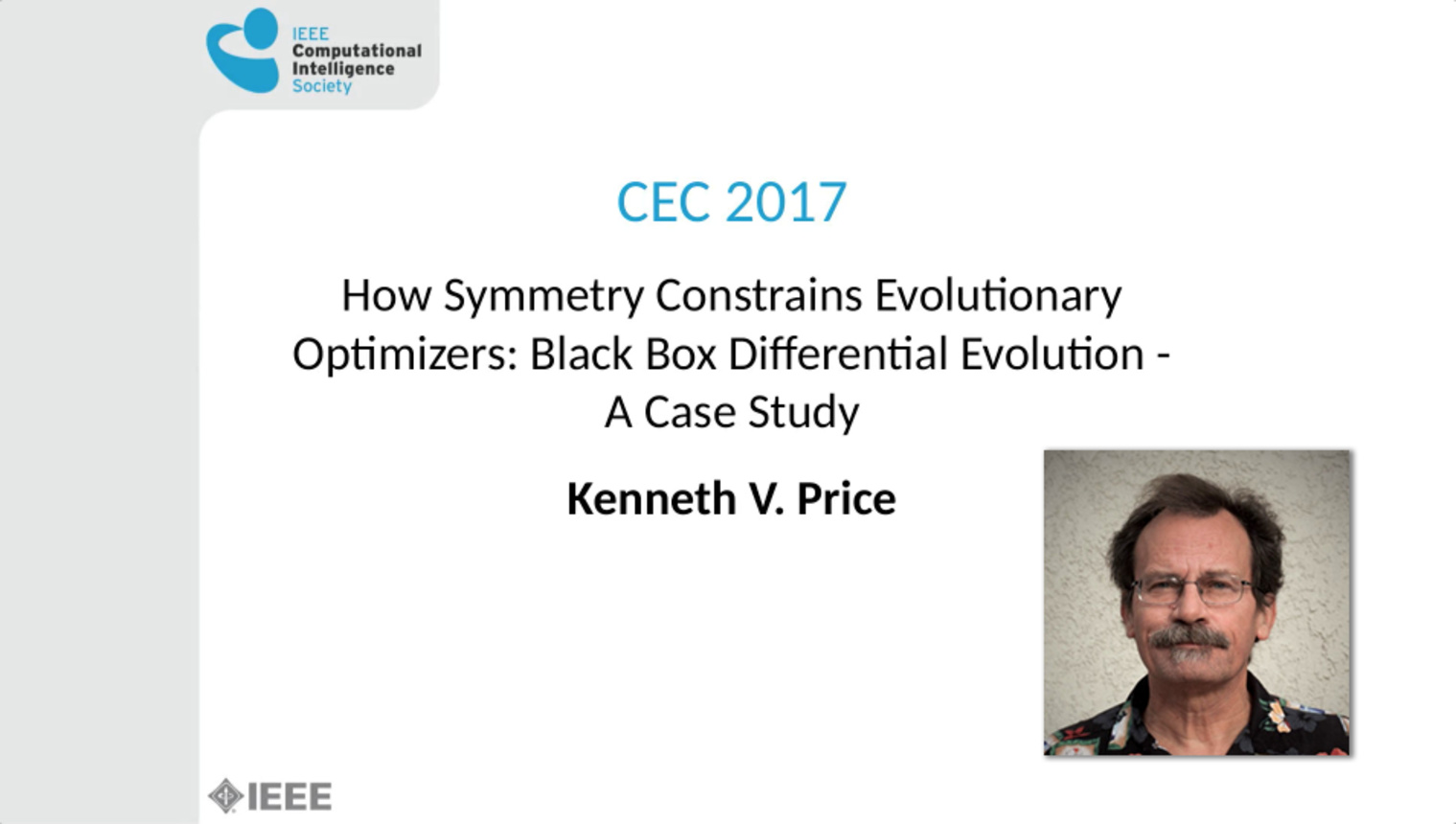 How Symmetry Constrains Evolutionary Optimizers: A Black Box Differential Evolution Case Study - IEEE Congress on Evolutionary Computation 2017