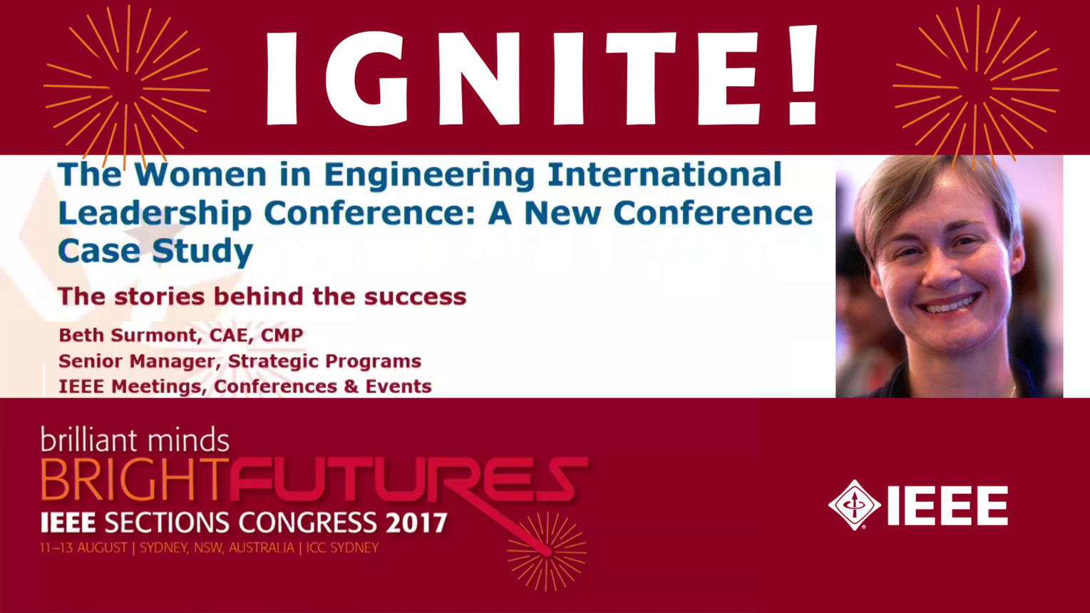 WIE-ILC: A New Conference Case Study - Beth Surmount - Ignite: Sections Congress 2017
