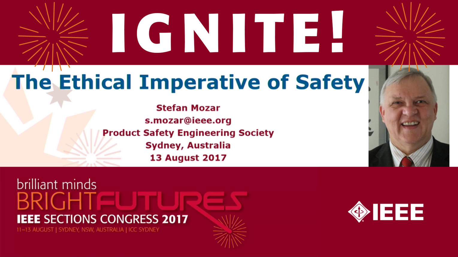 The Ethical Imperative of Safety - Stefan Mozar - Ignite: Sections Congress 2017