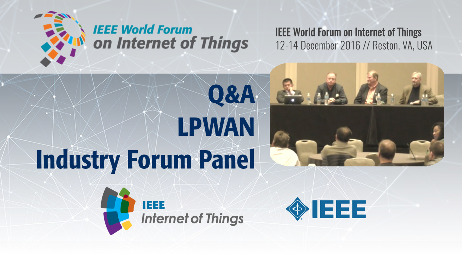 Q&A - LPWAN Industry Forum Panel: WF-IoT 2016