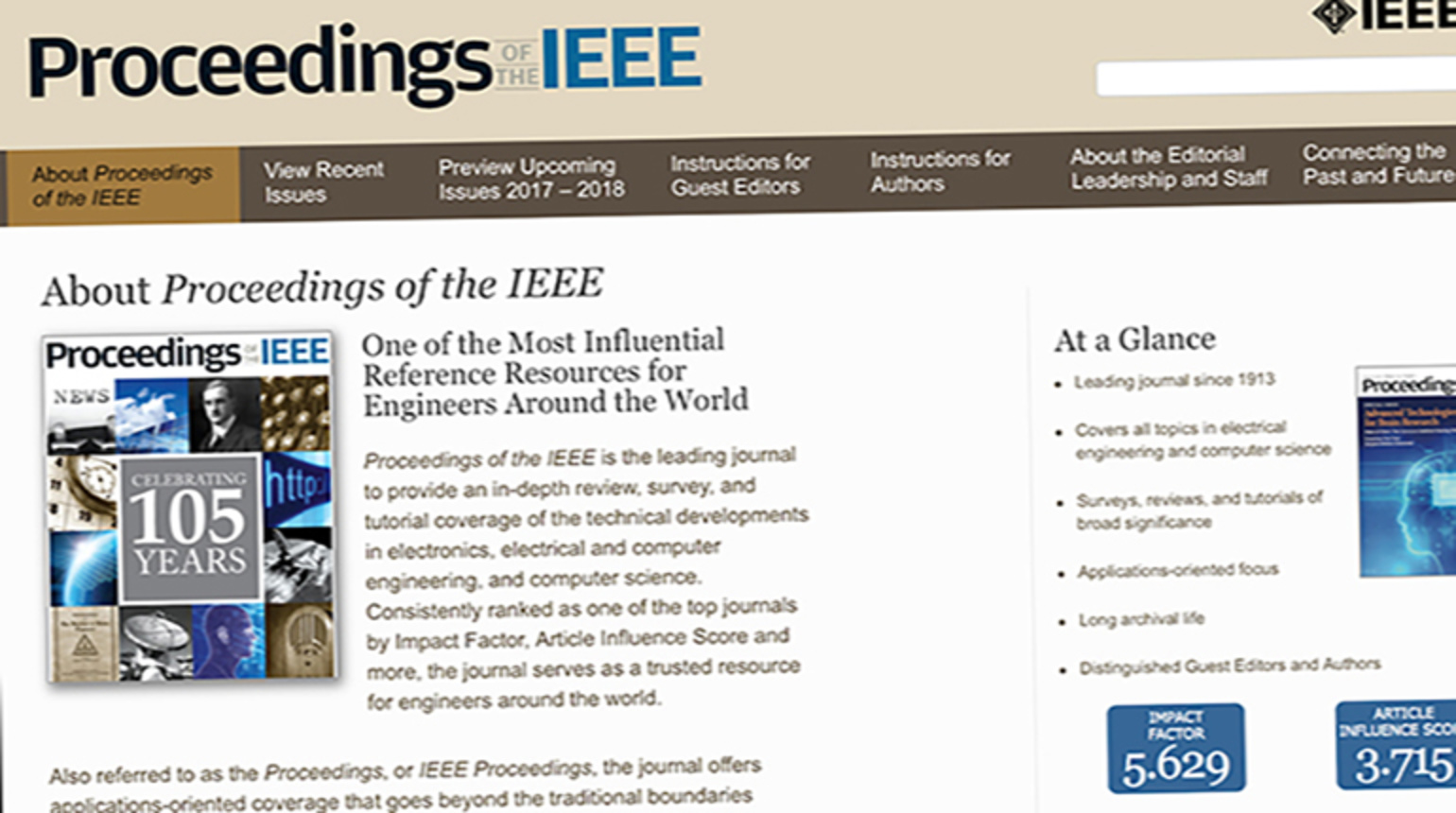 Proceedings of the IEEE: An Overview