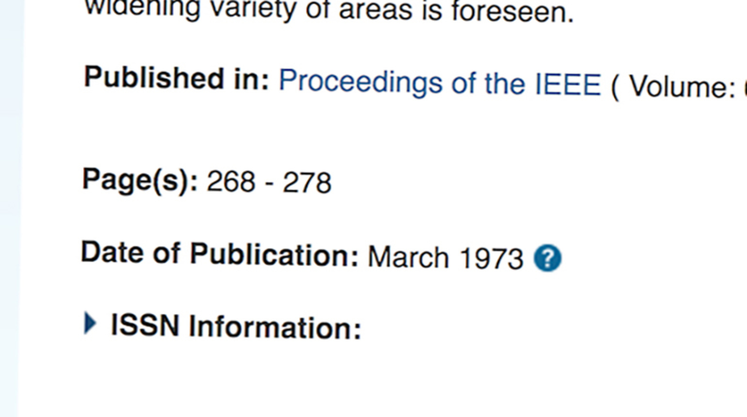 The Proceedings of the IEEE: Editorial Process