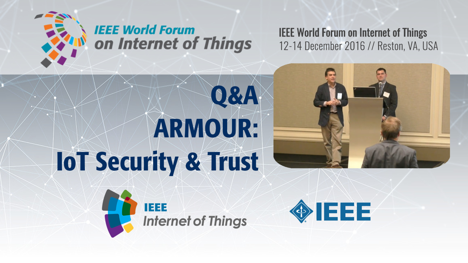 Q&A: ARMOUR and Security Certification: WF-IoT 2016
