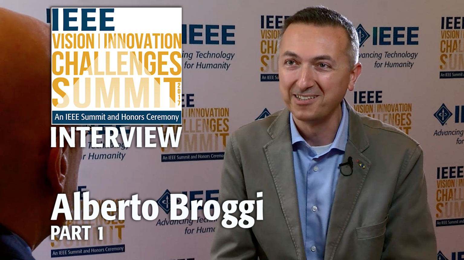Interview with Alberto Broggi, Part 1 - IEEE VIC Summit 2017