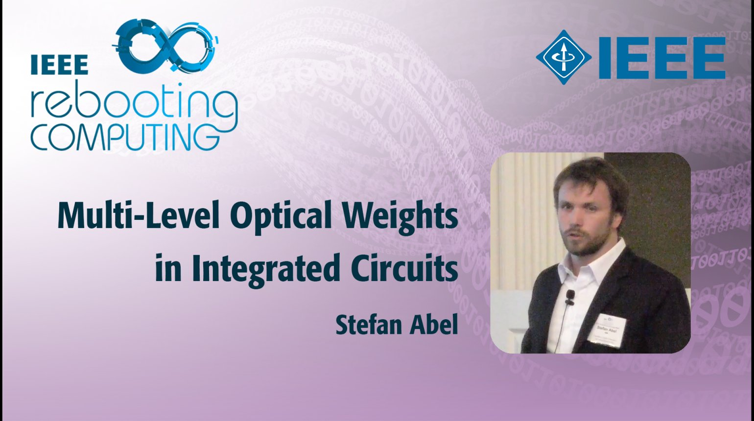 Multi-Level Optical Weights in Integrated Circuits - IEEE Rebooting Computing 2017
