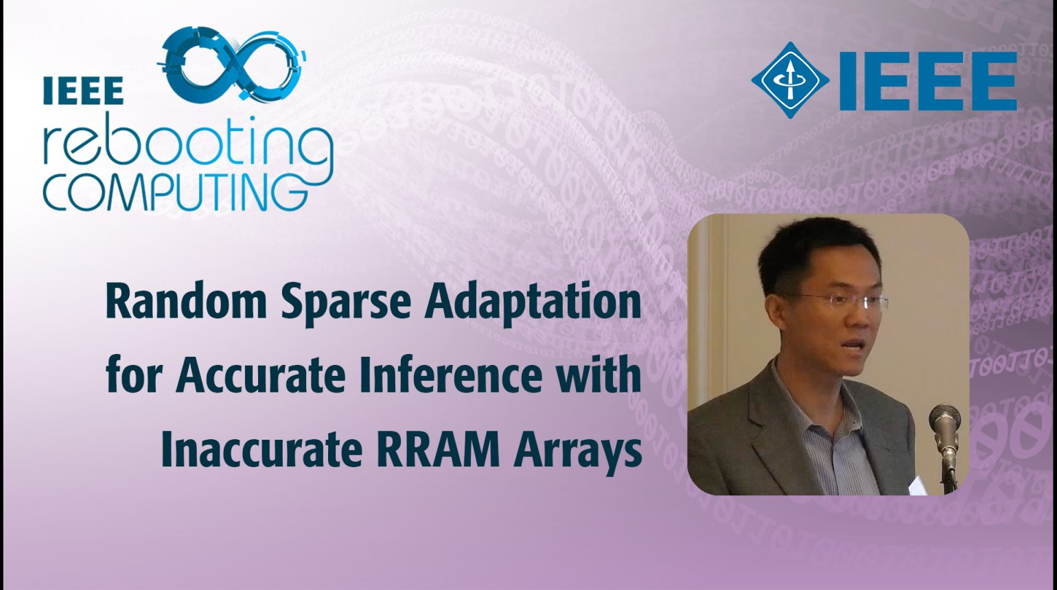 Random Sparse Adaptation for Accurate Inference with Inaccurate RRAM Arrays - IEEE Rebooting Computing 2017