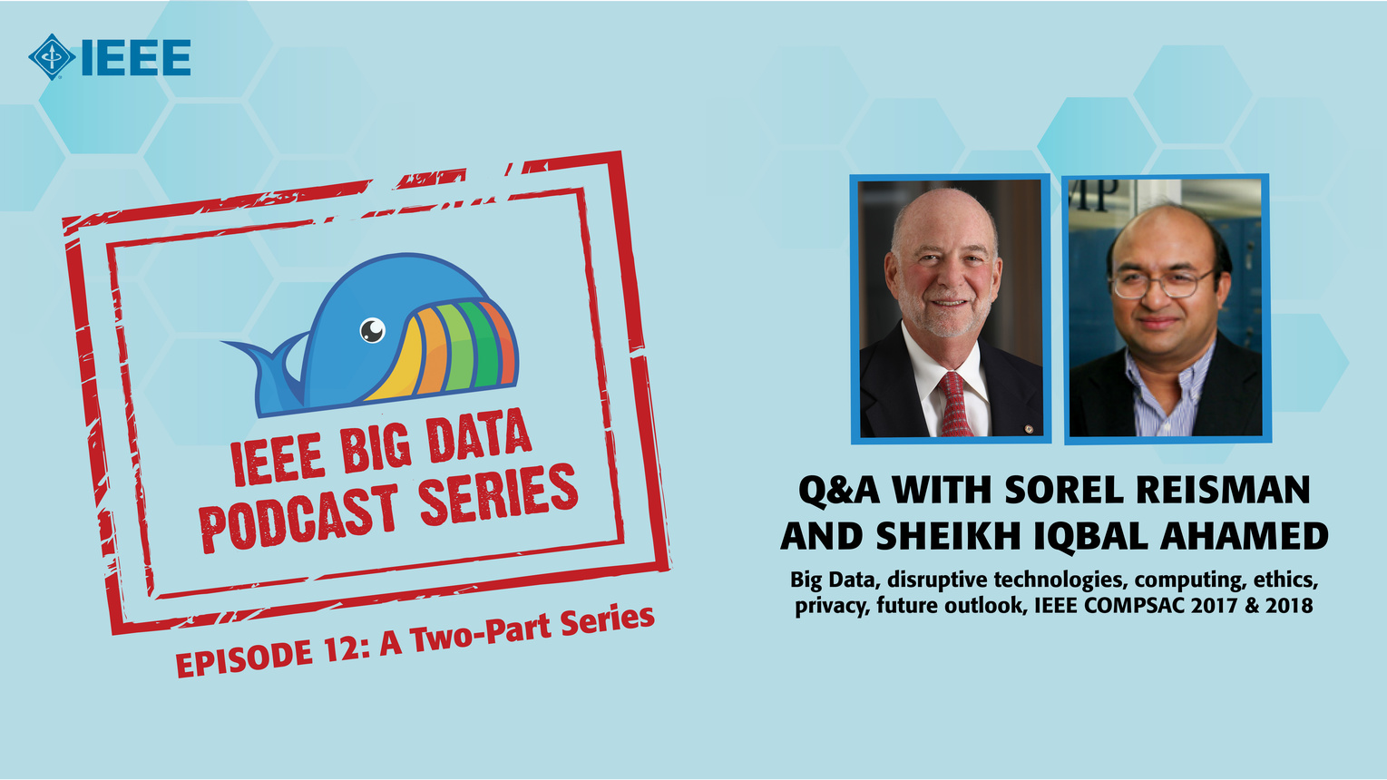 Q&A with Sorel Reisman & Sheikh Iqbal Ahamed, Part 1: IEEE Big Data Podcast, Episode 12