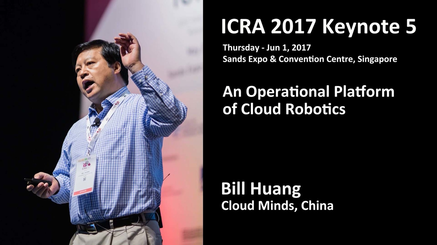 An Operational Platform of Cloud Robotics