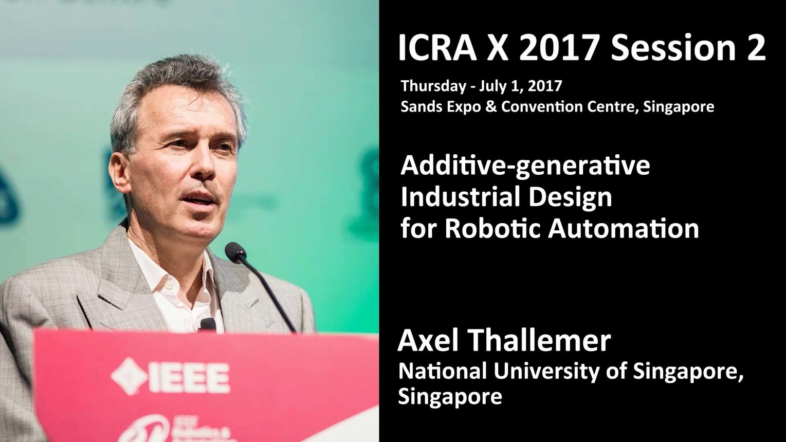 Additive-generative Industrial Design for Robotic Automation