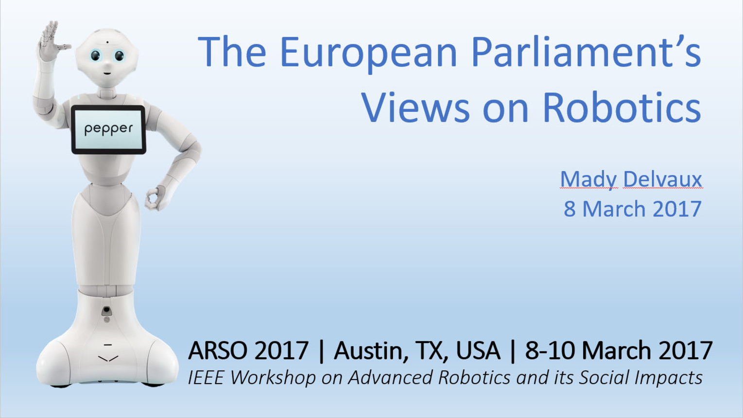 European Parliament Regulatory Efforts on Robotics