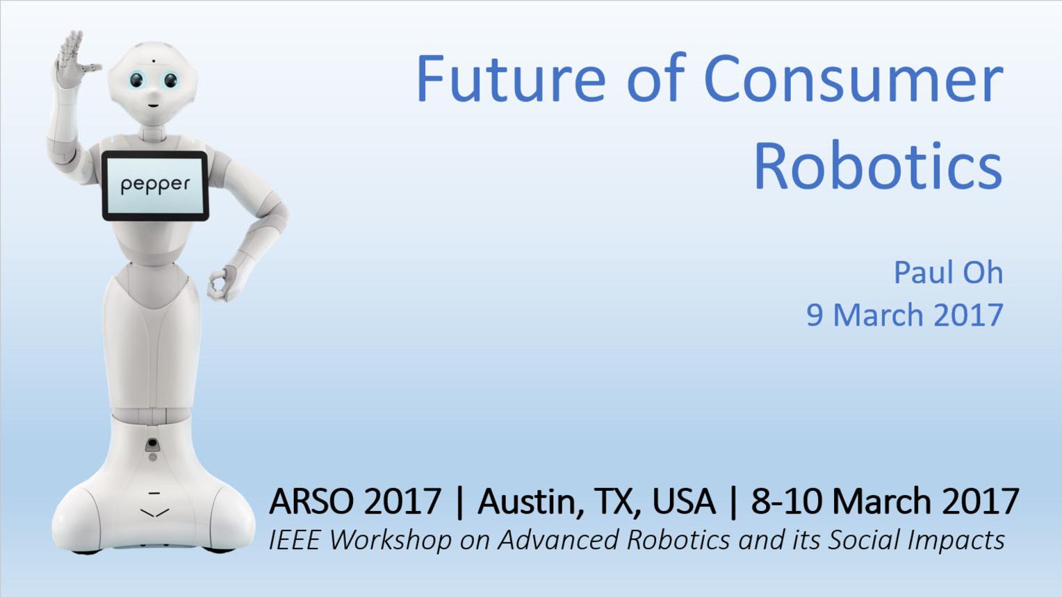 The Future of Consumer Robotics