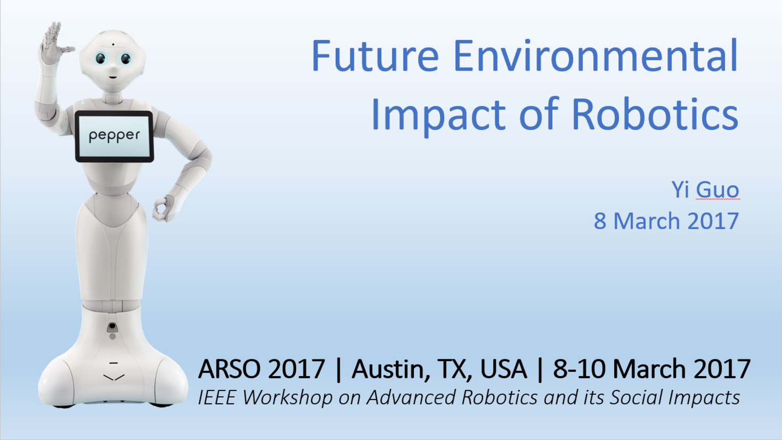 Future Environmental Impacts of Robotics