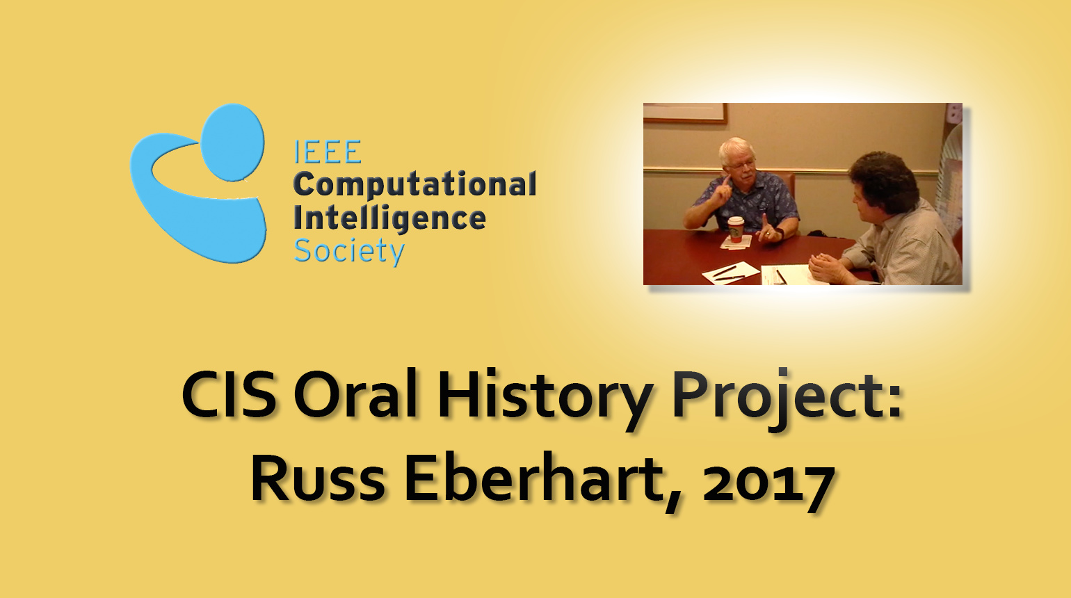Interview with Russ Eberhart, 2017: CIS Oral History Project