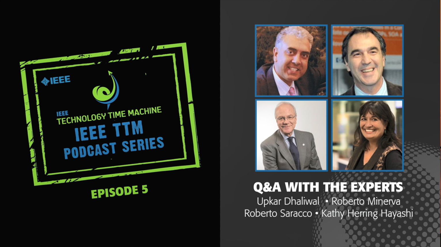 Q&A with the Experts: IEEE Technology Time Machine Podcast, Episode 5