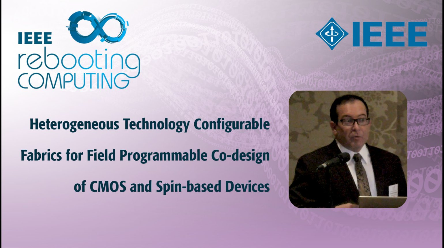 Heterogeneous Technology Configurable Fabrics for Field Programmable Co-design of CMOS and Spin-based Devices: IEEE Rebooting Computing 2017