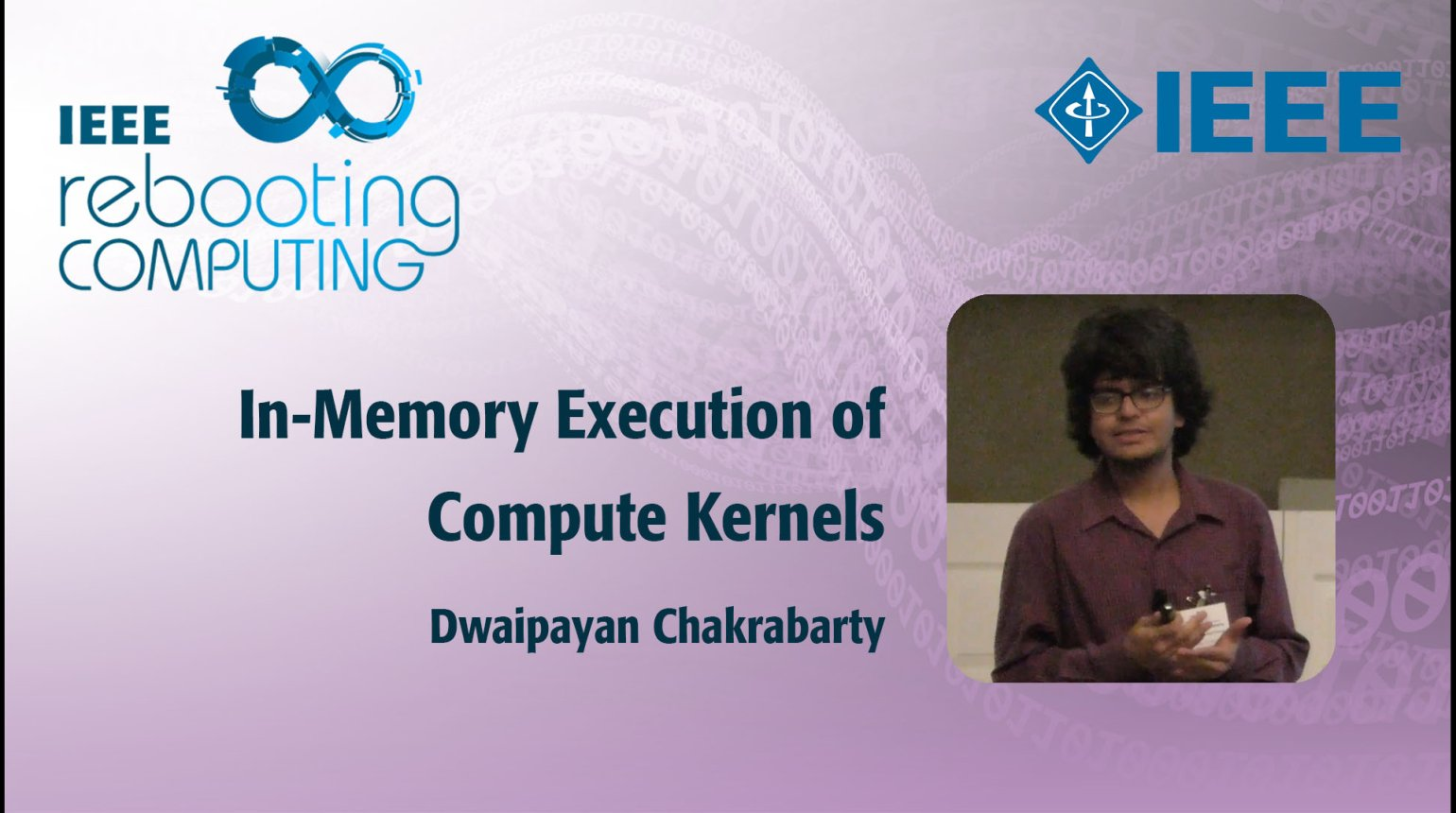 In-Memory Execution of Compute Kernels: IEEE Rebooting Computing 2017