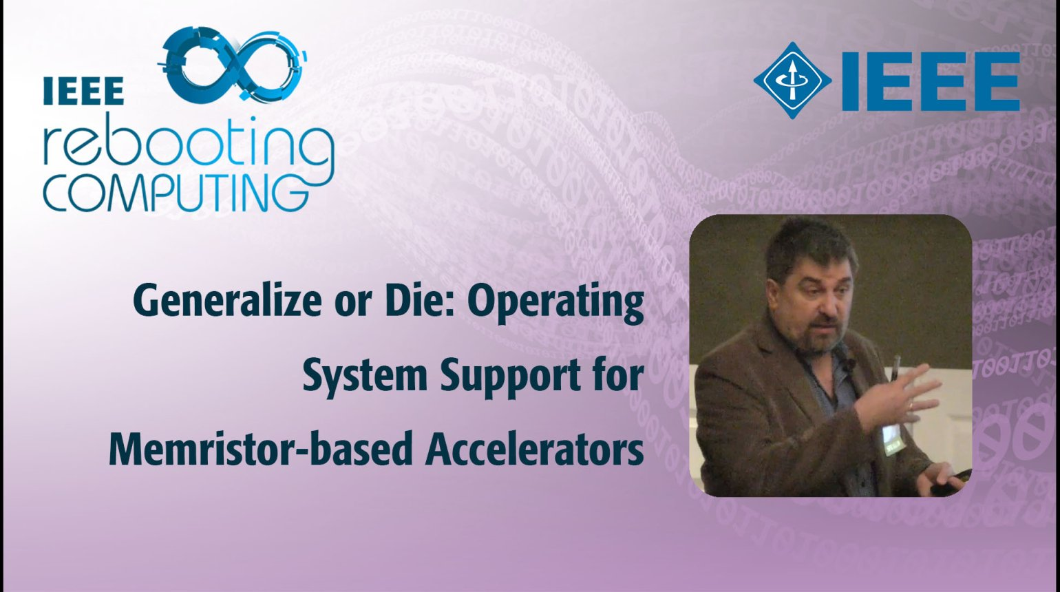 Generalize or Die: Operating System Support for Memristor-based Accelerators: IEEE Rebooting Computing 2017
