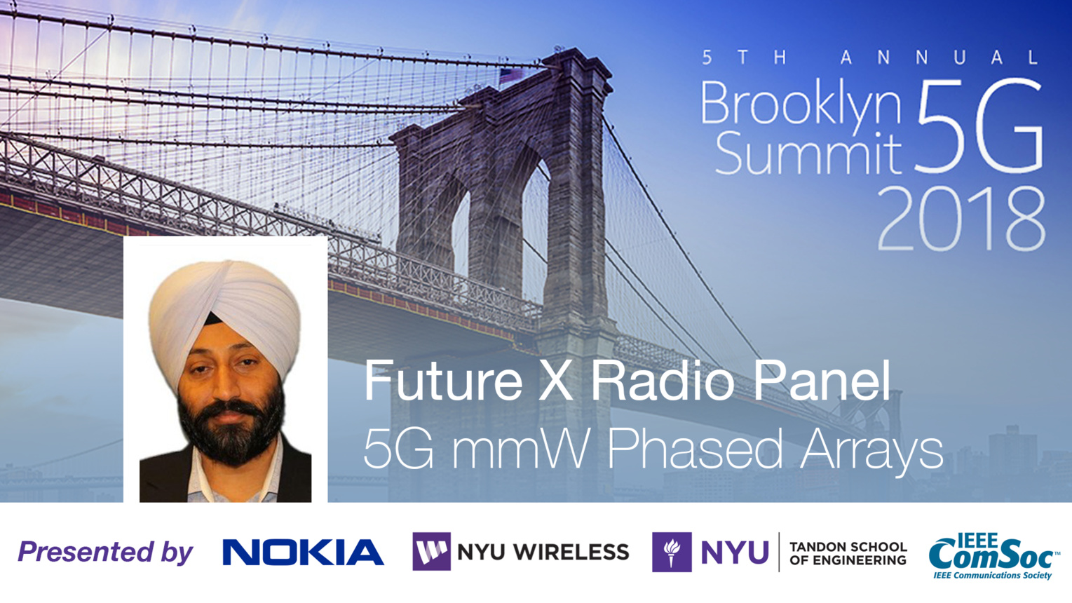 5G mmW Phased Arrays - Future X Radio Panel Talk - Baljit Singh - Brooklyn 5G Summit 2018