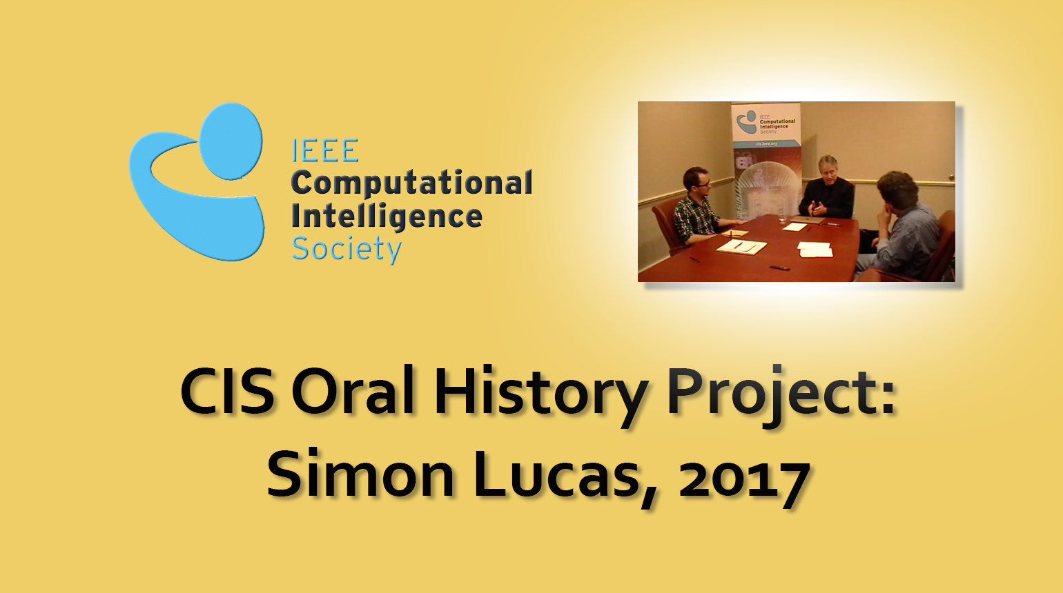 Interview with Simon Lucas, 2017: CIS Oral History Project