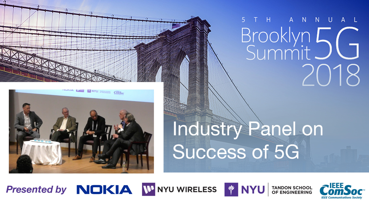 Industry Panel on Success of 5G - Brooklyn 5G Summit 2018