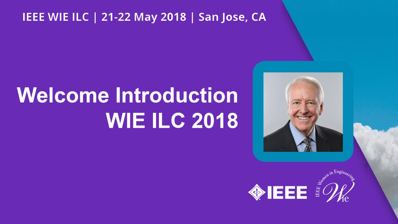 Welcome Introduction - Jim Jefferies - WIE ILC 2018