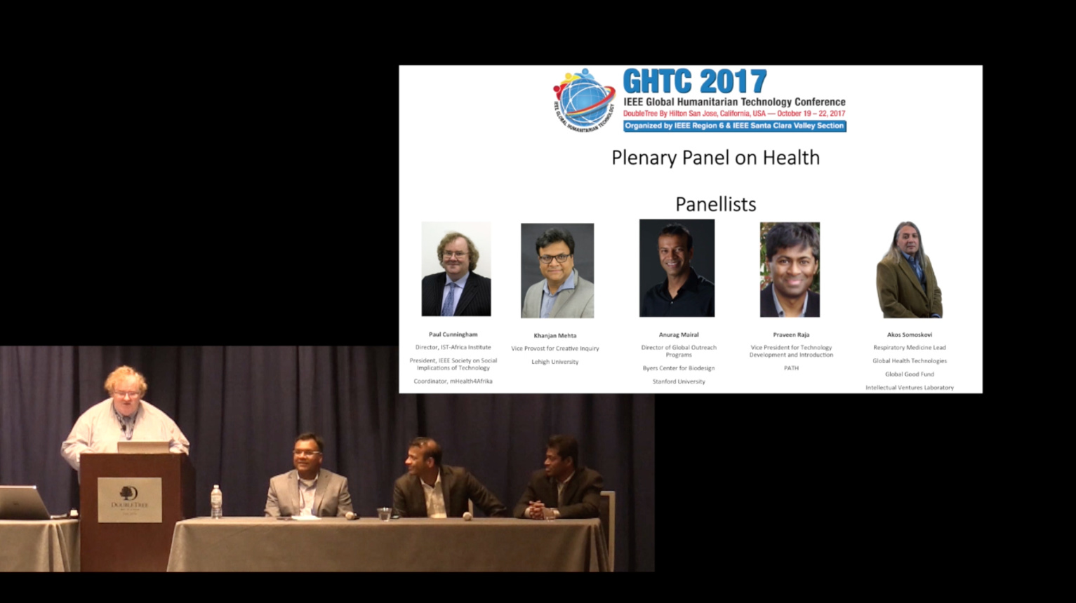 Healthcare Panel at the Global Humanitarian Technology Conference, GHTC 2017