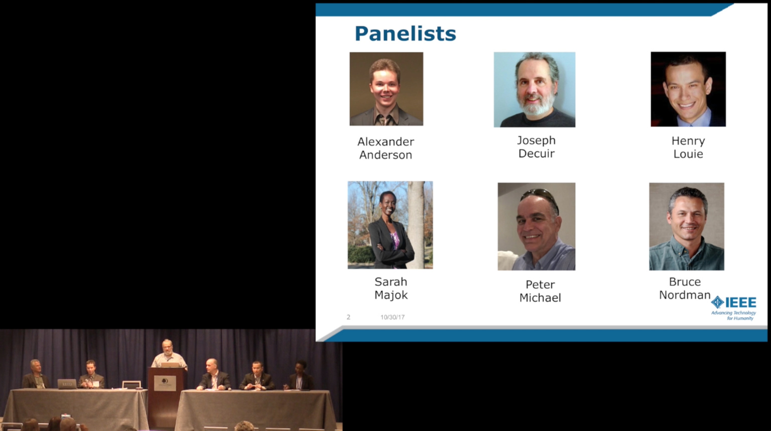 Energy Panel at the Global Humanitarian Technology Conference, GHTC 2017