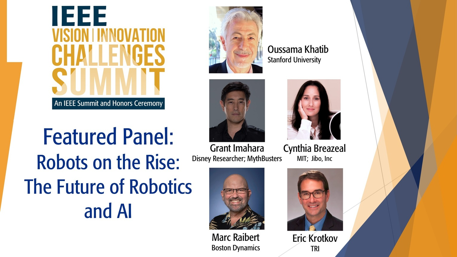 Robots on the Rise: The Future of Robotics and AI - IEEE VICS 2018