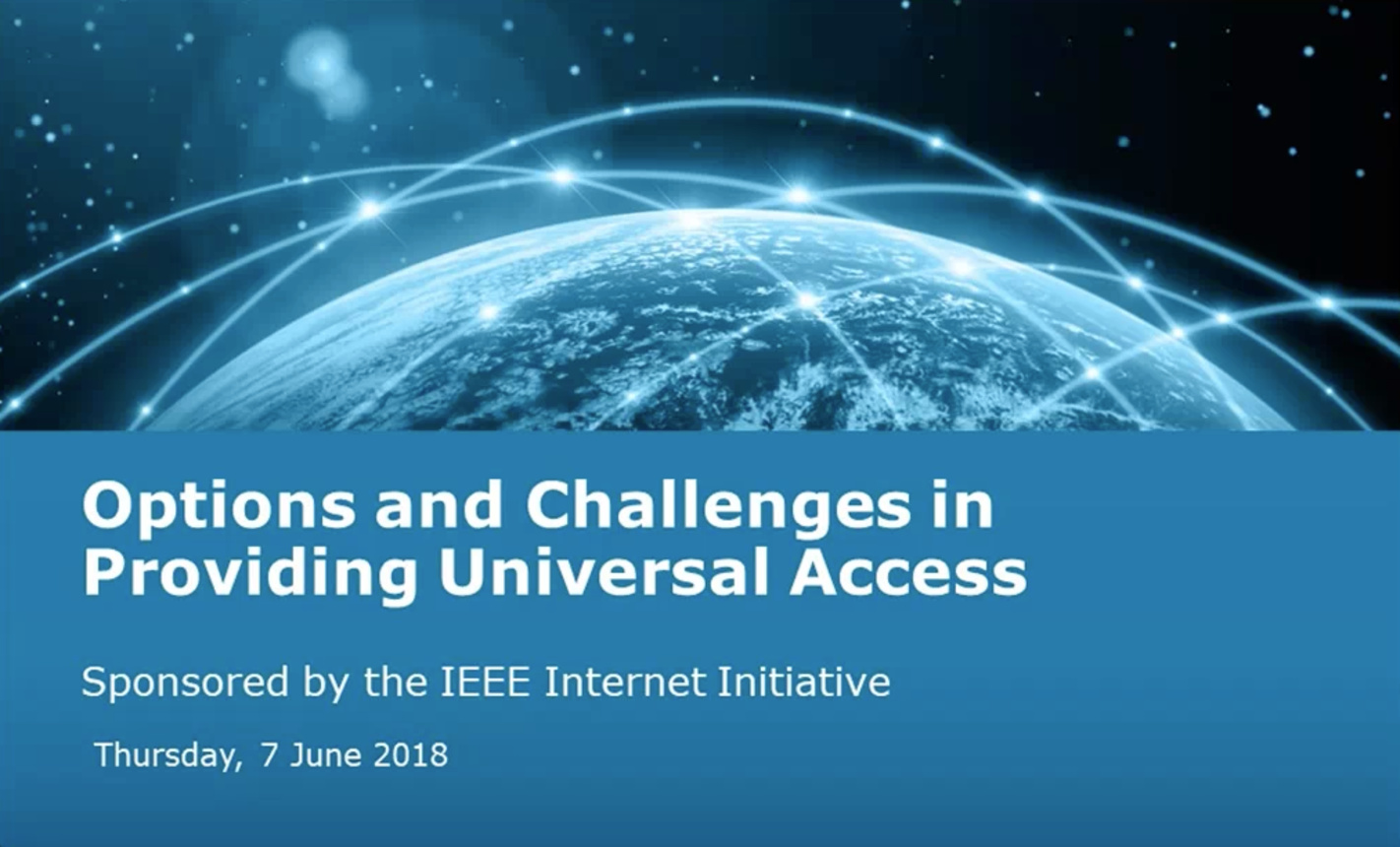 Options and Challenges in Providing Universal Access - IEEE Internet Initiative