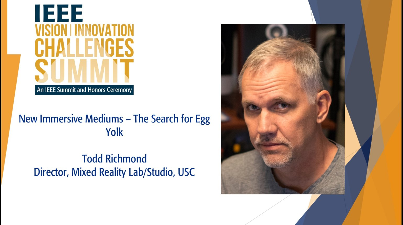New Immersive Mediums - The Search For Egg Yolk: IEEE VICS 2018