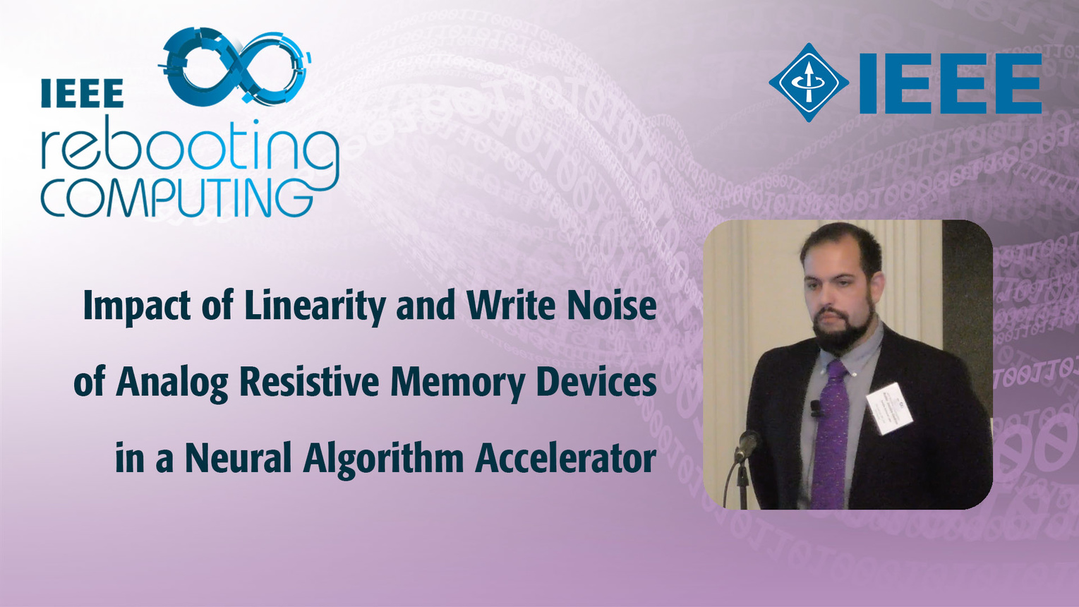Impact of Linearity and Write Noise of Analog Resistive Memory: IEEE Rebooting Computing 2017