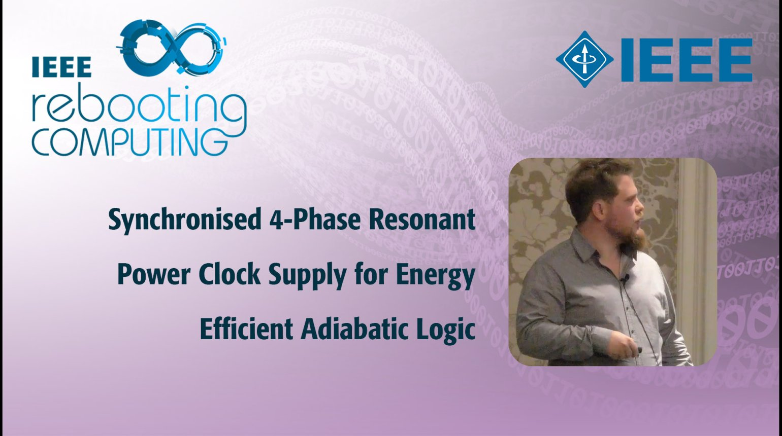 Synchronised 4-Phase Resonant Power Clock Supply for Energy Efficient Adiabatic Logic: IEEE Rebooting Computing 2017