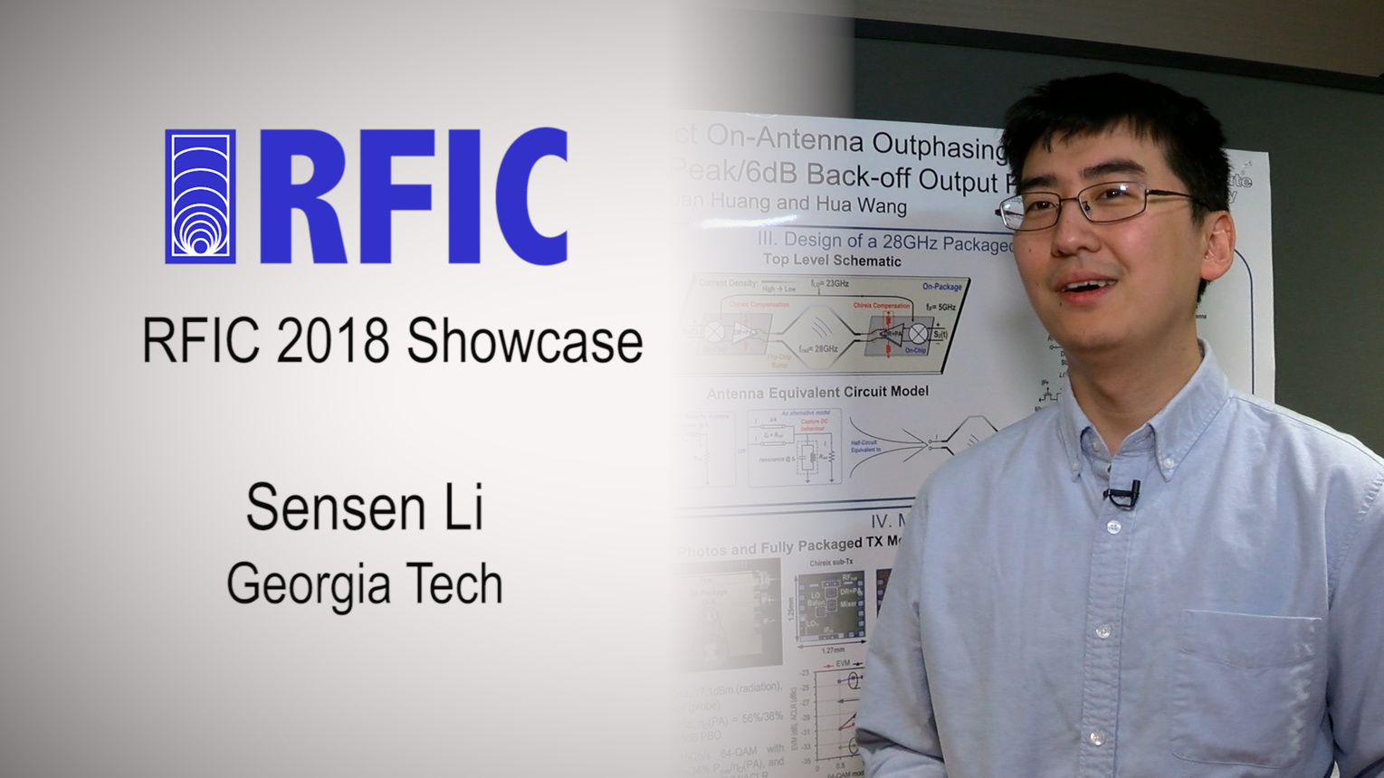 28GHz Packaged Chireix Transmitter - Sensen Li - RFIC Showcase 2018