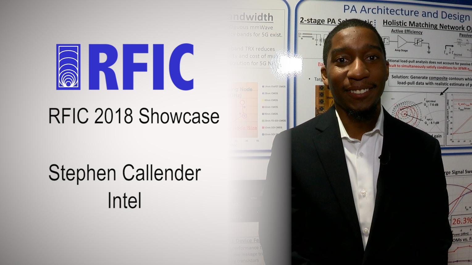 Compact 75GHz PA with 26.3% PAE & 24GHz Bandwidth - Stephen Callender - RFIC Showcase 2018
