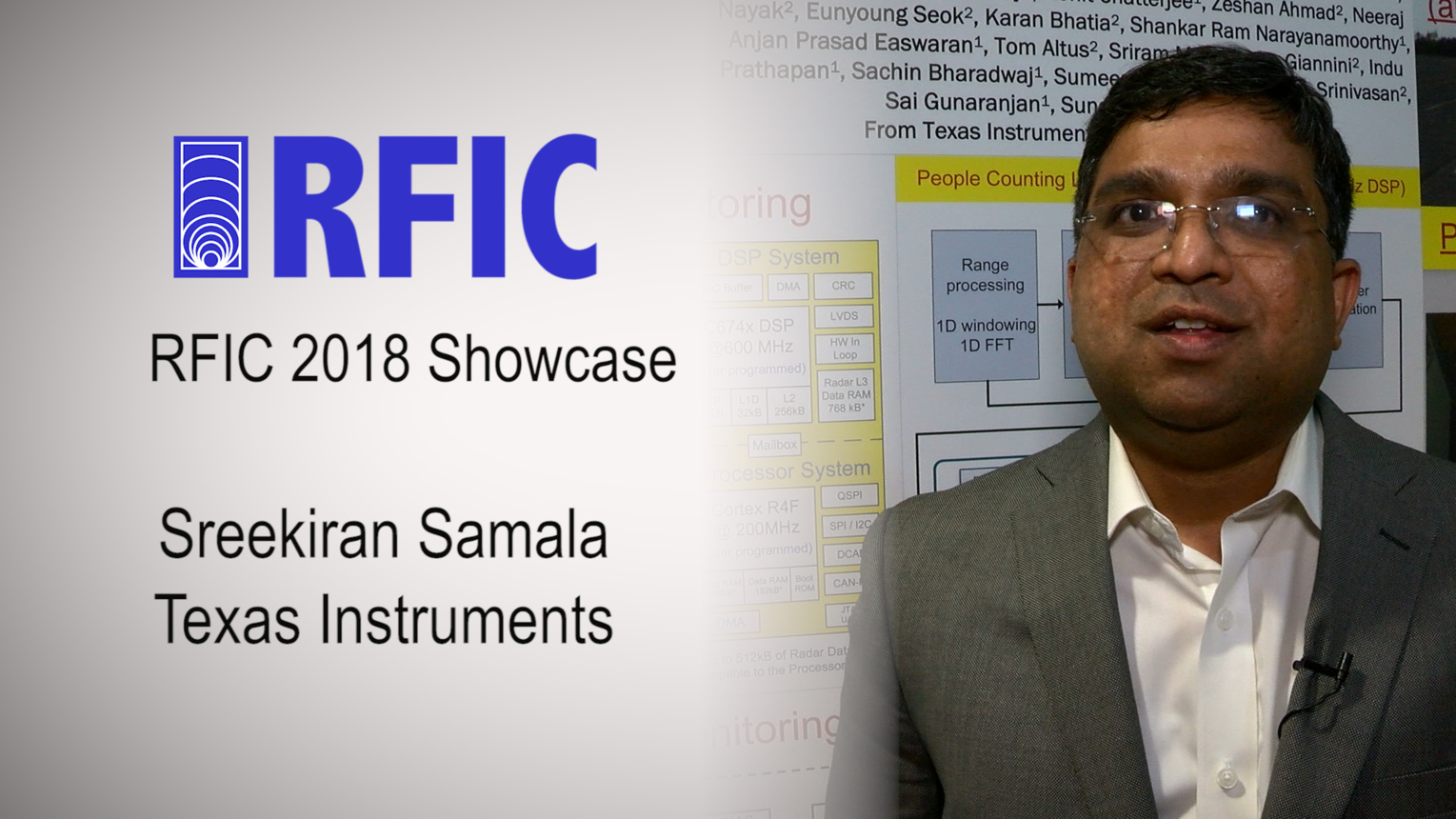 CMOS mmWave Radar SoC Architecture and Applications - Sreekiran Samala - RFIC Showcase 2018