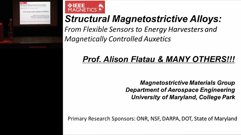 IEEE Magnetics Distinguished Lecture - Alison B. Flatau