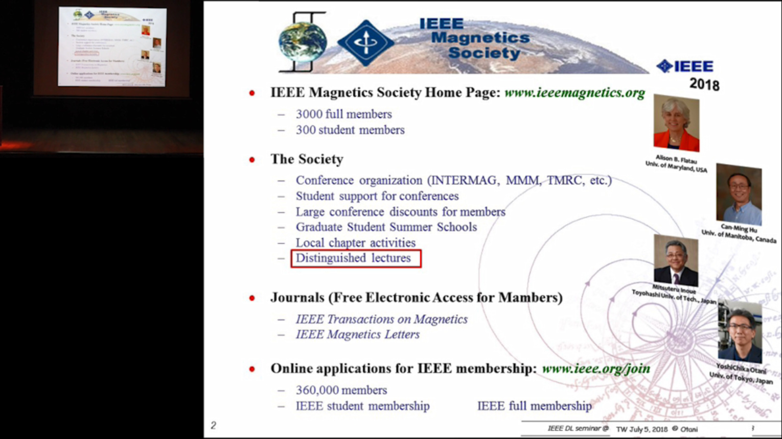 IEEE Magnetics Distinguished Lecture - Can-Ming Hu