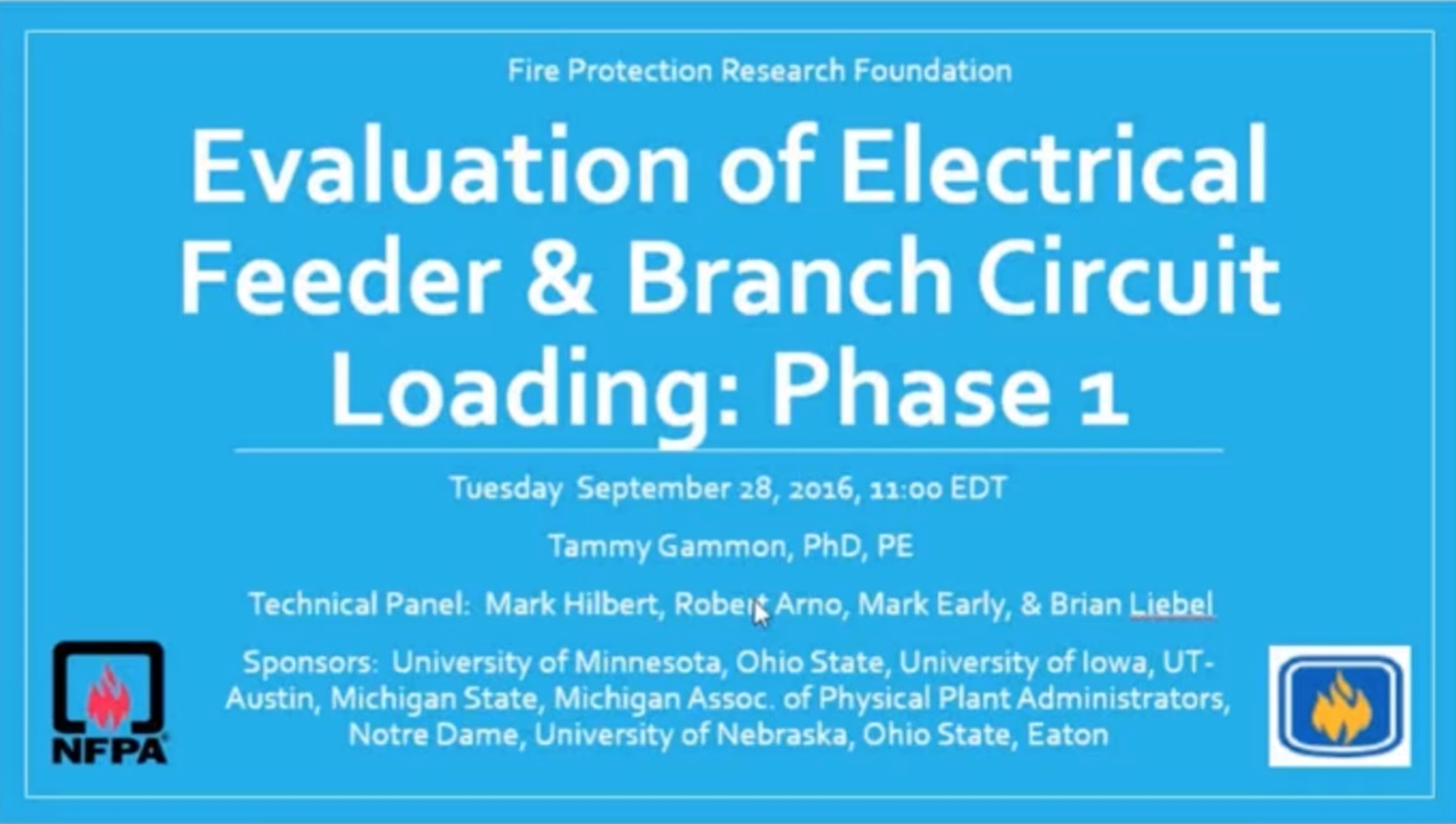 Evaluation of Circuit Loading: NFPA Fire Protection Research Foundation
