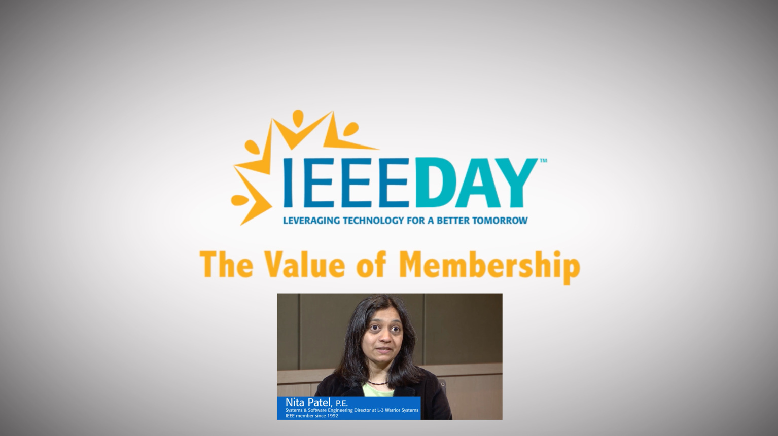 Nita Patel - IEEE Value of Membership Testimonial