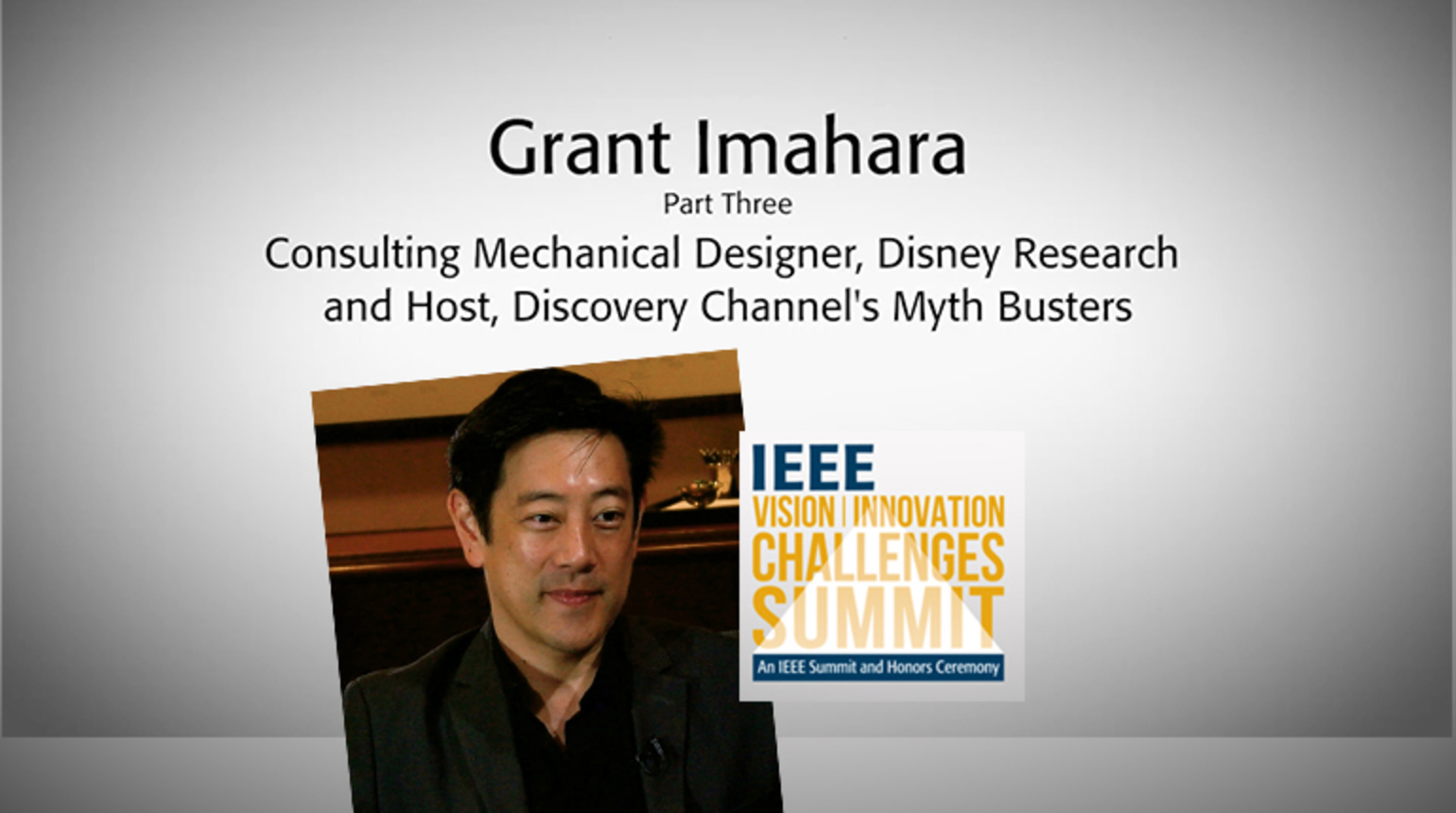Part 3: Interview With Grant Imahara