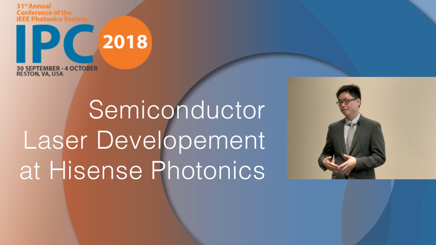 Semiconductor Laser Development at Hisense Photonics - Yanfeng Lao - IPC 2018