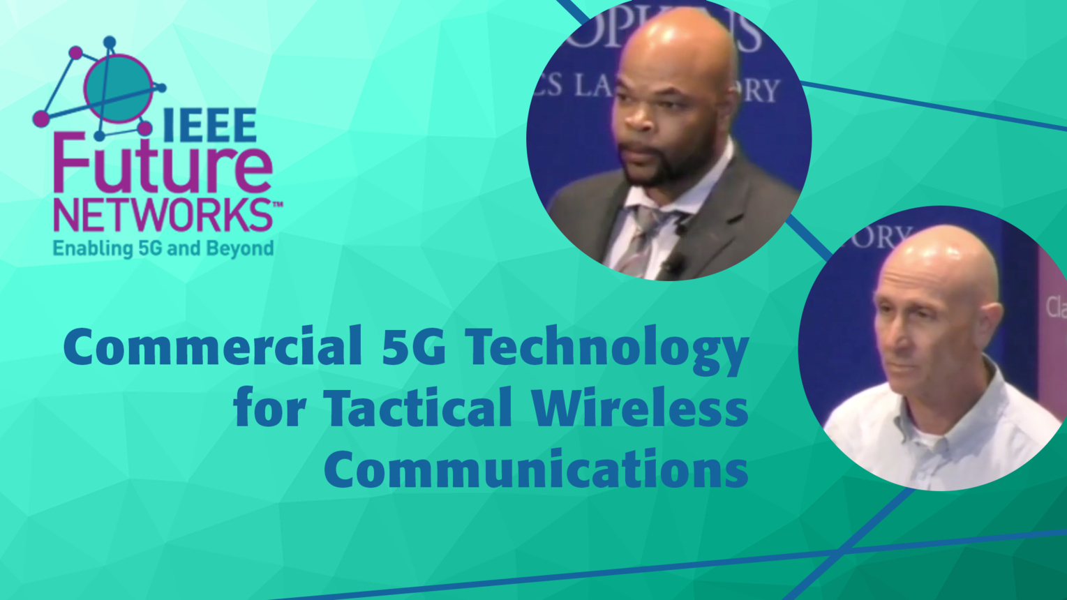 Commercial 5G Technology as a Building Block for Tactical Wireless Communications - Leland Brown and Issy Kipnis - 5G Technologies for Tactical and First Responder Networks 2018