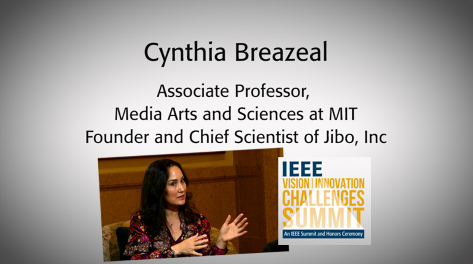 An Interview with Cynthia Breazeal: IEEE VIC Summit 2018
