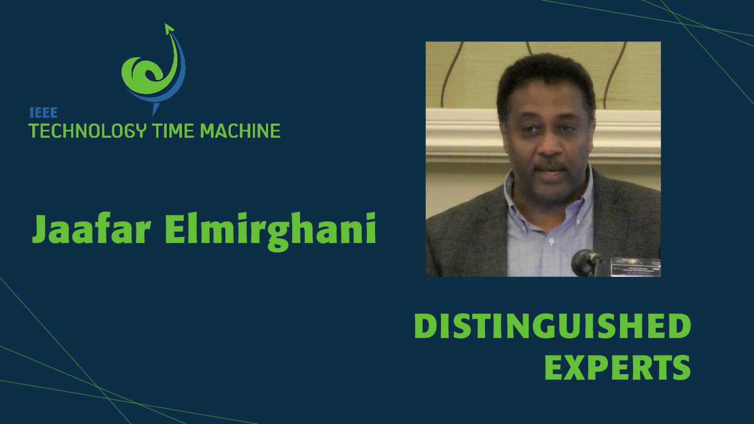 Jaafar Elmirghani: Distinguished Experts Panel - TTM 2018