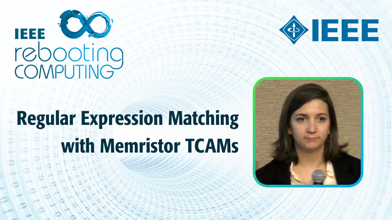 Regular Expression Matching with Memristor TCAMs - Cat Graves - ICRC 2018