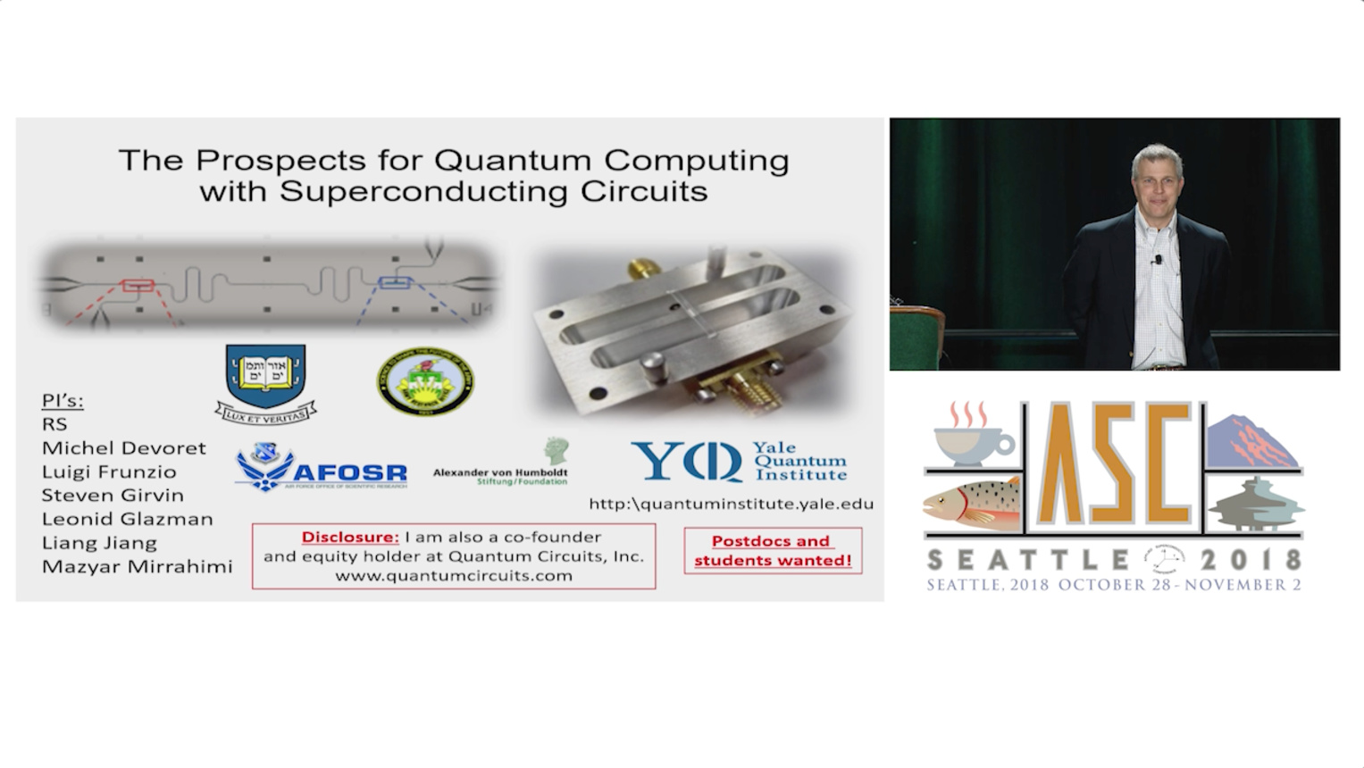 The Prospects for Scalable Quantum Computing with Superconducting Circuits - Applied Superconductivity Conference 2018