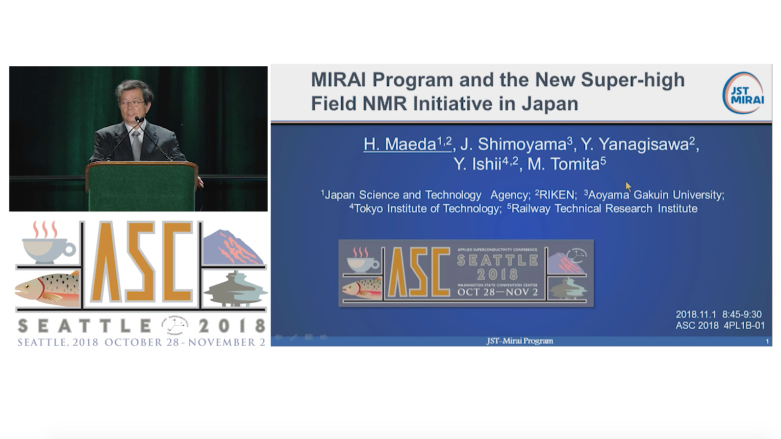 MIRAI Program and the New Super-high Field NMR Initiative in Japan - Applied Superconductivity Conference 2018