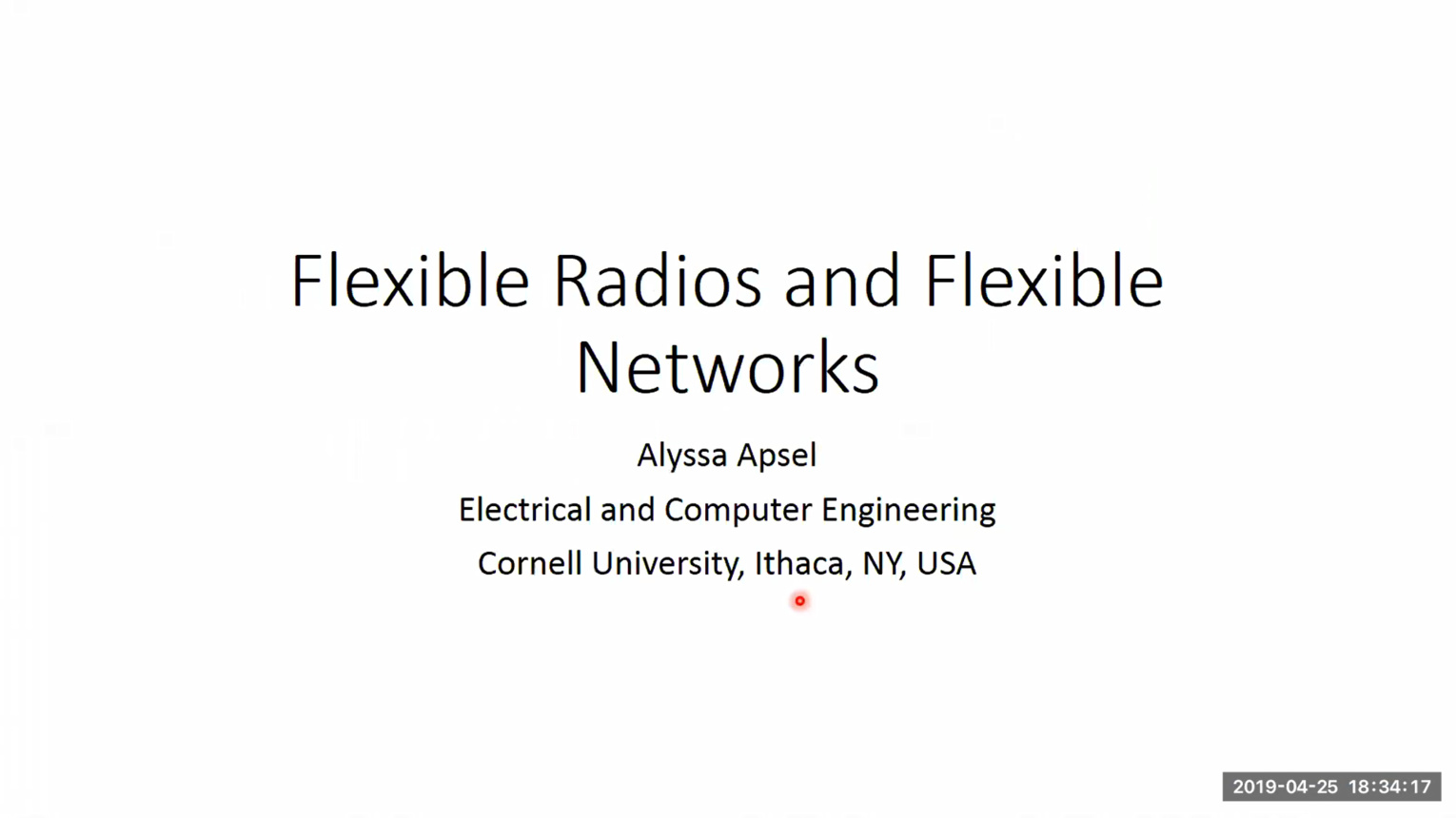 Flexible Radios and Flexible Networks